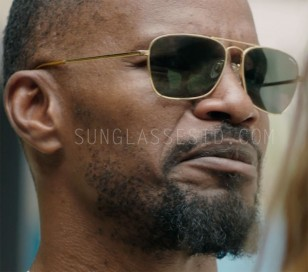 Jamie Foxx wears Randolph Intruder sunglasses in Sleepless.