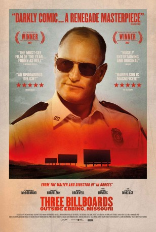 The Randolph Engineering Intruder sunglasses can also be spotted on a poster for the film featuring Woody Harrelson