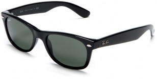 Ray-Ban RB2132 New Wayfarer Black frame / Crystal Green lenses