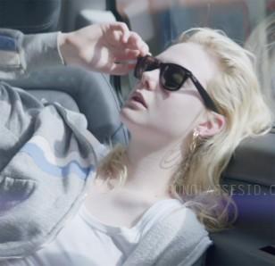 Elle Fanning wears Ray-Ban 2140 Wayfarer sunglasses in Teen Spirit.