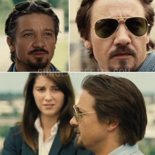 Jeremy Renner wearing Ray-Ban 3025 Aviator sunglasses in Kill The Messenger