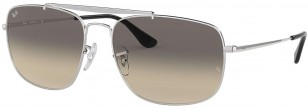 Ray-Ban Colonel RB3560 003/32 58-17, Silver Frame, Clear Grey Gradient lenses