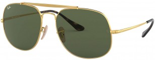 Ray-Ban RB3561 General 001 57-17, Gold frame, Green Classic G-15 lens
