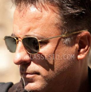 Andy Garcia wears Randolph Engineering RE Aviator sunglasses in the film A Dark