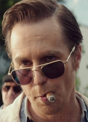 Sam Rockwell wearing the vintage RE Aviator sunglasses in the movie The Best of Enemies.