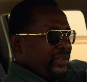 Wendell Pierce wears RE Aviator sunglasses in episode 6, where they look gold.