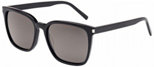 Saint Laurent SL93 001, Shiny Black Acetate with Smoke Lenses