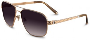 Sama No Hunger sunglasses with rose gold frame