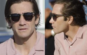 It looks like Jake Gyllenhaal is wearing Shuron Ronsir frames fitted with sunglasses in Nightcrawler