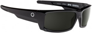 Spy General, Black Frame with Happy Gray Green Lenses, 673118038863