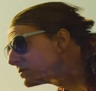 Tom Cruise wears a pair of L.G.R. Comoros sunglasses during a motorbike chase in Mission: Impossible - Rogue Nation.