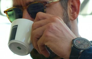 Lavazza coffee, a Chopard watch... but the sunglasses are yet to be identified