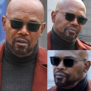 Samuel L. Jackson wears Modo 657 sunglasses in Shaft (2019).