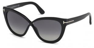 Tom Ford Arabella FT0511 01D, black cat-eye sunglasses