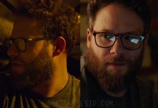 Seth Rogen wears a pair of BonLook Loft eyeglasses in the movie Long Shot.