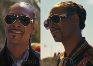 Snoop Dogg wears black and gold Versace Medusa VE2150Q C62 sunglasses in The Beach Bum (2019)