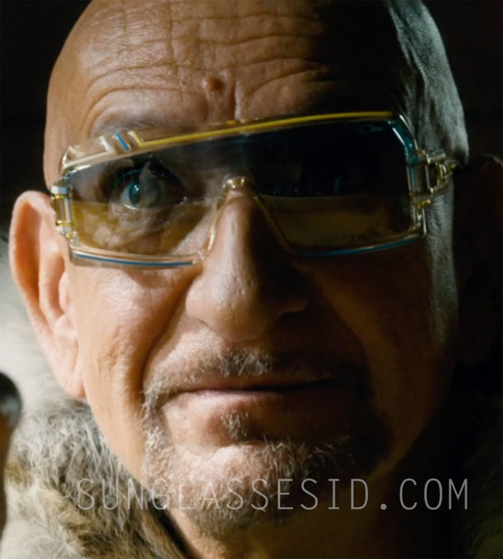 Ben Kingsley wears a pair of vintage Cazal 858 sunglasses in the movie Collide.