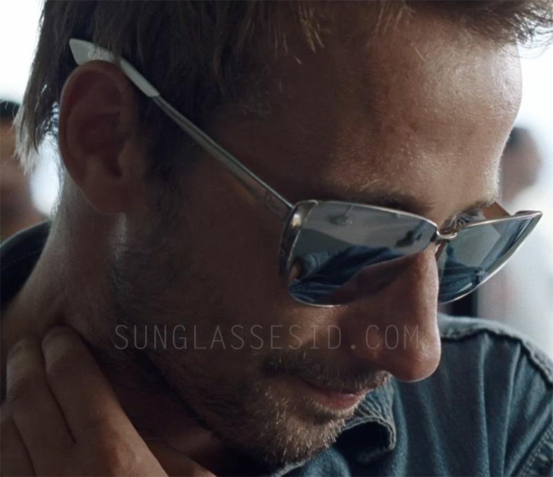 Matthias Schoenaerts briefly wears the same pair of sunglasses in The Bigger Splash