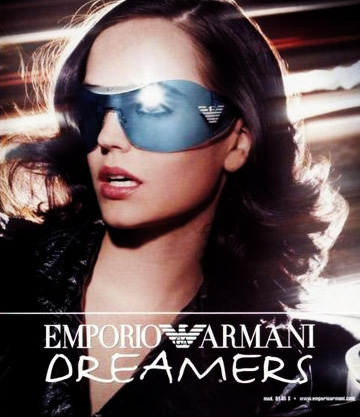 18d59506caf Eva Green wearing Emporio Armani 9145 sunglasses in a 2004 2005 Emporio  Armani Dreamers ad