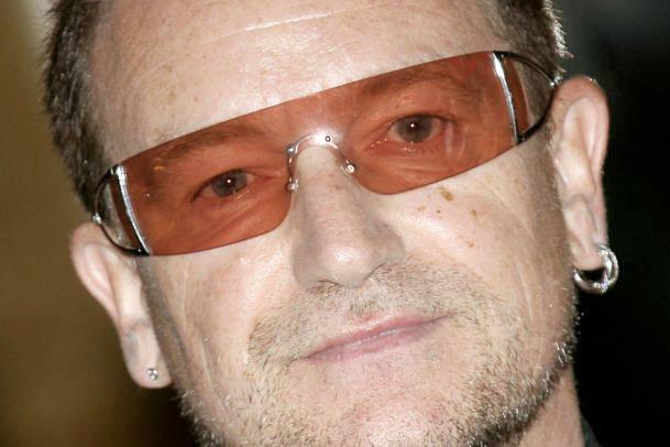 edf34e12625 U2 frontman Bono with his classic Emporio Armani 9285 sunglasses
