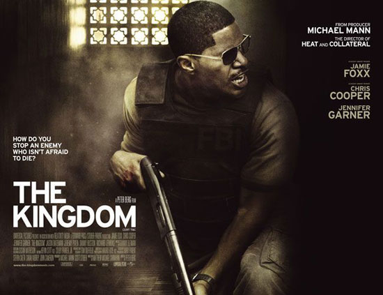 Jamie Foxx wearing Michael Kors S110 on one of the Kingdom movie posters