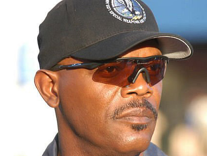 samuel l jackson wears oakley m frame hybrid sunglasses in the movie swat
