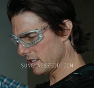31cdda12355c9 Tom Cruise wears custom made Oakley Wind Jacket glasses in Mission   Impossible – Ghost Protocol.