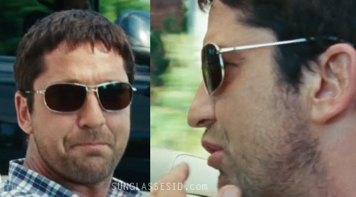 b9ac61cb91d Gerard Butler with his Oliver Peoples sunglasses in The Bounty Hunter