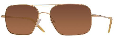 Oliver Peoples Victory gold frame with pink quartz mirror glasses