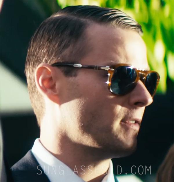 Matt Funke wears Persol 714 Steve McQueen model in the movie Americons