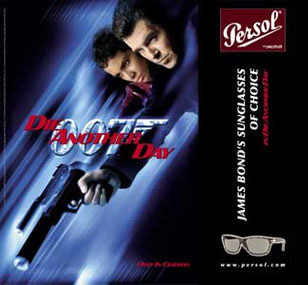 An advertisement for the James Bond Persol 2672 sunglasses seen in Die Another D