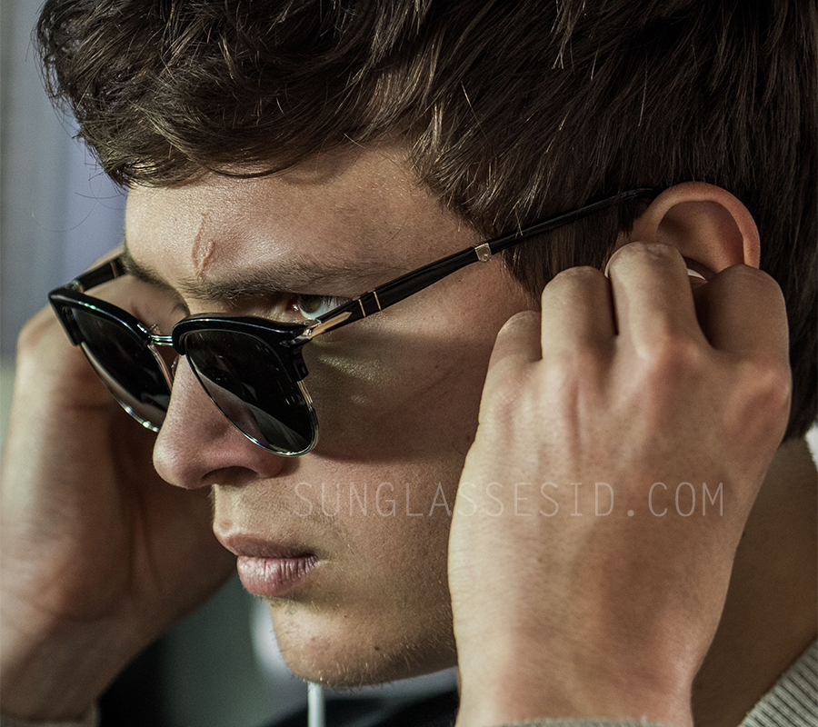 1e955fd0af Ansel Elgort wearing Persol PO3132S sunglasses in Baby Driver.