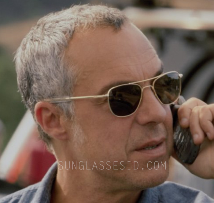 Titus Welliver wears Randolph Engineering Aviator sunglasses in the first season of Amazon tv series Bosch.