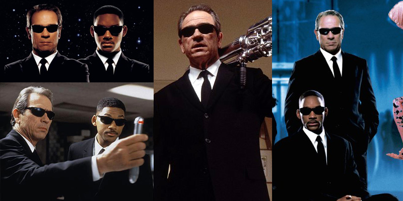 f05cdd405bd Tommy Lee Jones wearing Ray-Ban 2030 Predator sunglasses in Men in Black