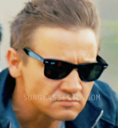 mens ray ban wayfarer sunglasses 2140  jeremy renner, as agent aaron cross/kenneth gidson, wears ray ban wayfarer sunglasses in the bourne legacy