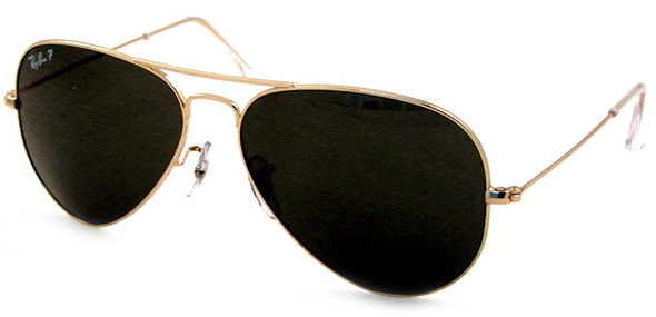 ray ban golden frame glasses  ray ban 3025 gold (arista) frame, gray polarized lenses (code 001