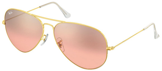 ray ban aviator gold frame pink lens