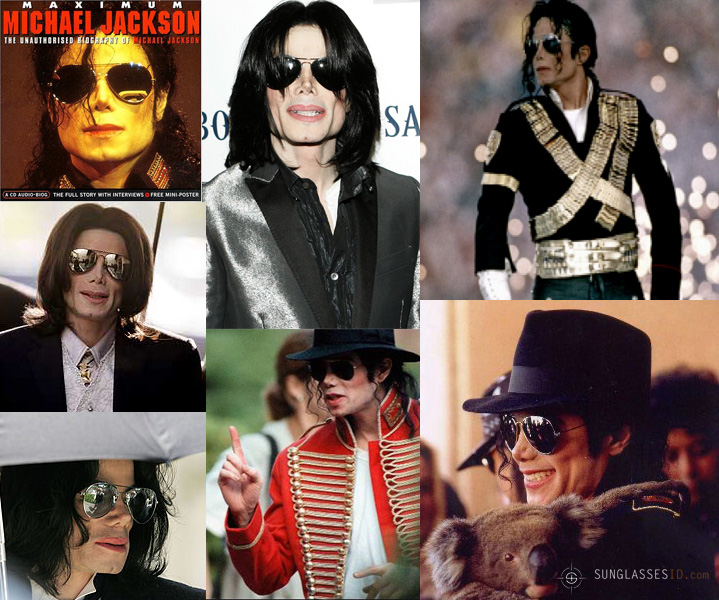 f2bead6b09 Michael Jackson wearing the Ray-Ban Aviator sunglasses on many occasions