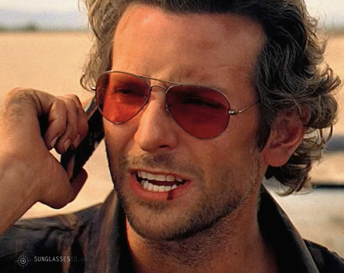Bradley Cooper wearing Ray-Ban 3025 sunglasses in The Hangover