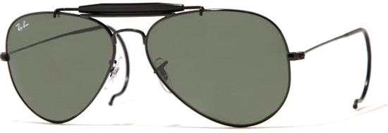 aviator ray ban i0j7  Ray-Ban 3030 Outdoorsman Aviator, black frame