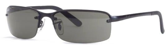 ray ban 3217  ray ban 3217 matte black frame, gray green lenses