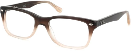 ray ban optical glasses 6971  Ray-Ban RX5288 eyeglasses, brown gradient frame
