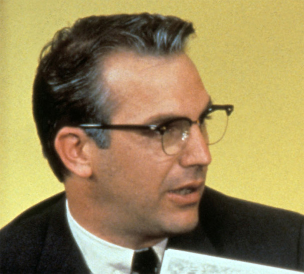 f9a9cebe506 Kevin Costner wearing Shuron Ronsir Zyl glasses in the movie JFK