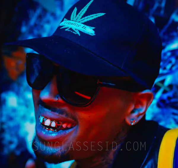 4ba2fea60e Chris Brown wears Tom Ford Olivier sunglasses in the music video B tches N  Marijuana