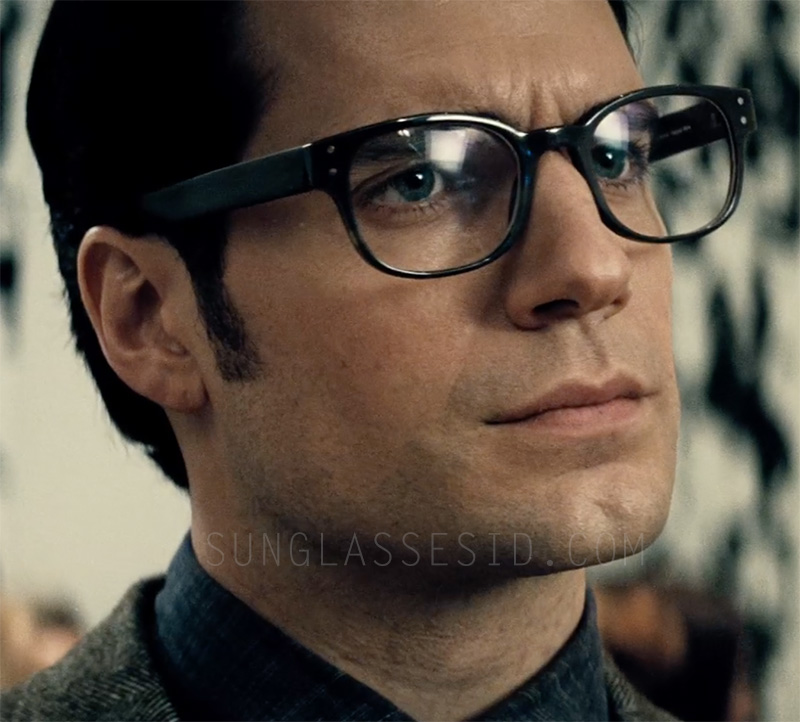 Henry Cavill wears a pair of Tom Davies Bespoke Horn eyeglasses in Batman v Superman: Dawn of Justice