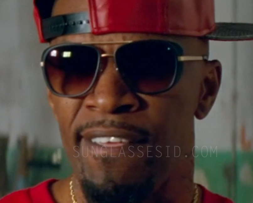 Jamie Foxx wears a pair of Matsuda M3023 sunglasses in Baby Driver (2017).