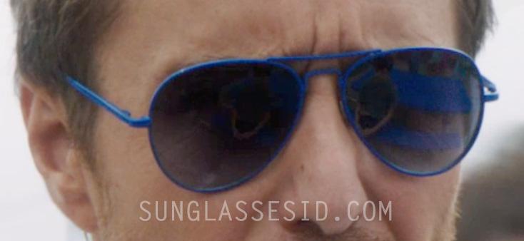 c80e2ea37bda7 Blue Frame Mirrored Aviator Sunglasses - Sam Rockwell - The Way
