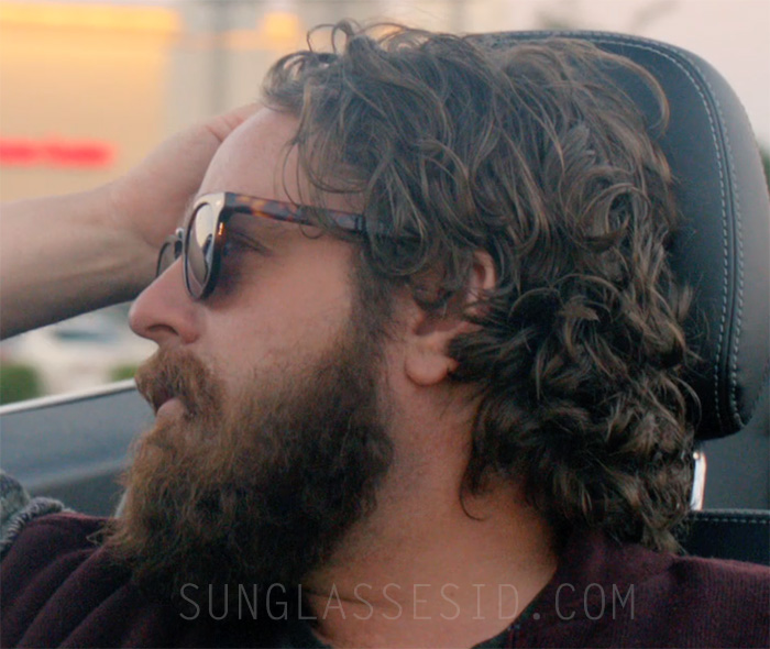 Zach Galifianakis wearing Old Focal Icon sunglasses in Are You Here