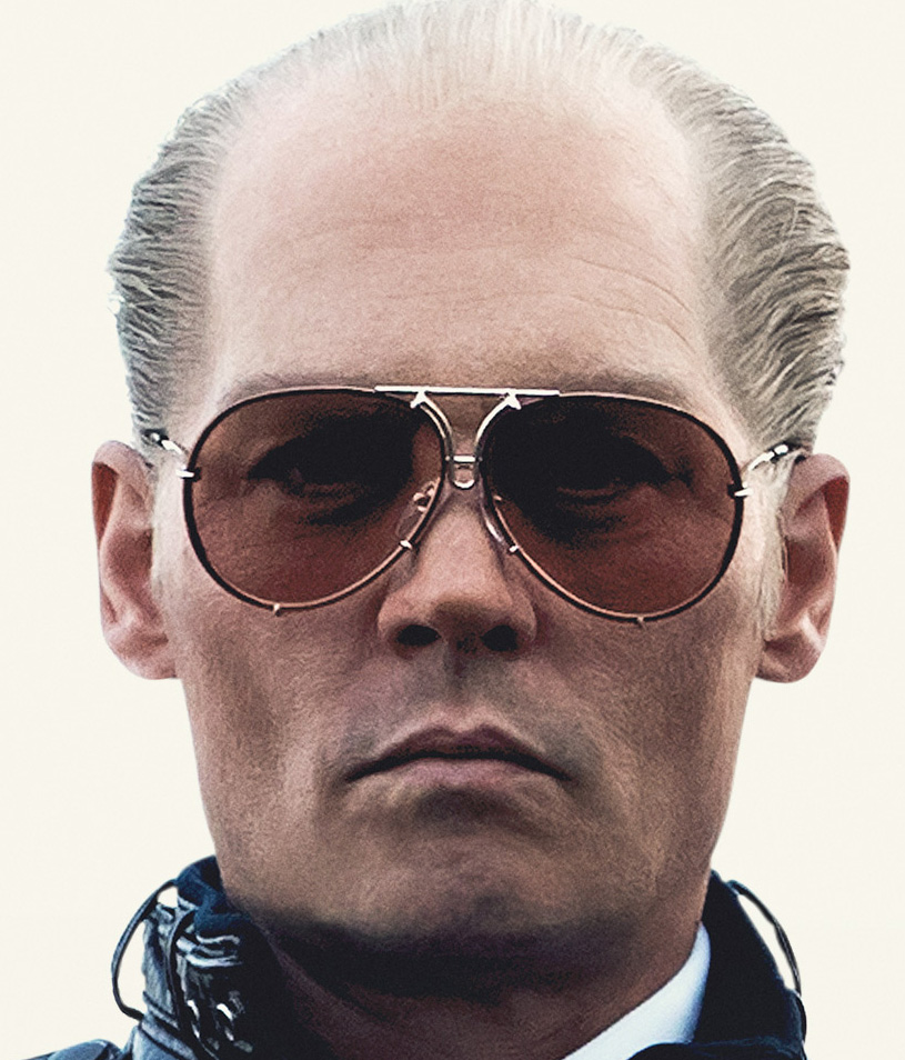 The glasses feature prominently on the Black Mass film poster