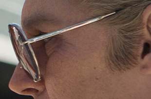 Side view of Johnny Depp's vintage sunglasses in Black Mass